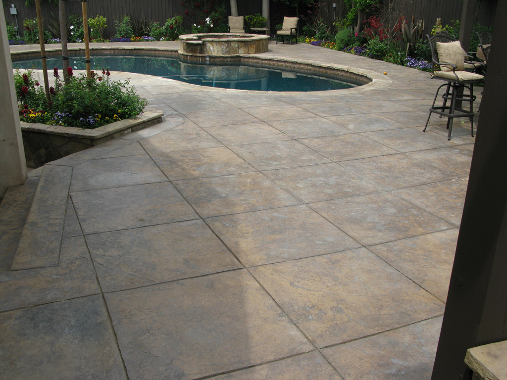 Good Stamped Concrete Pool Deck